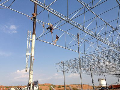 Steel Structure Building Space Frame Light Gauge